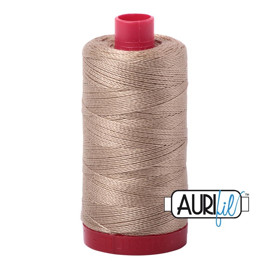 Aurifil Linen Thread A2325 - Beige Brown - 12wt - Quilting Cotton
