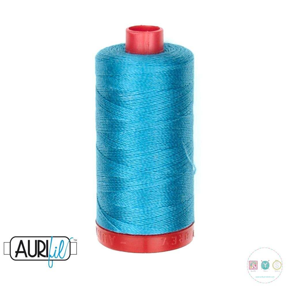 Aurifil Dark Turquoise Thread - 4182 - 12/2 - 12wt - Blue Quilting Cotton Thread