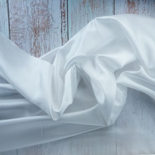 Lining Fabric - Acetate Taffeta in White