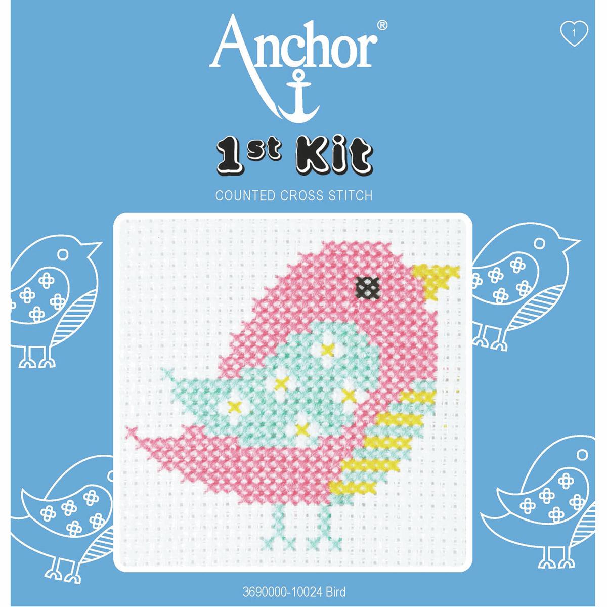 1st Cross Stitch Kit by Anchor - Bird