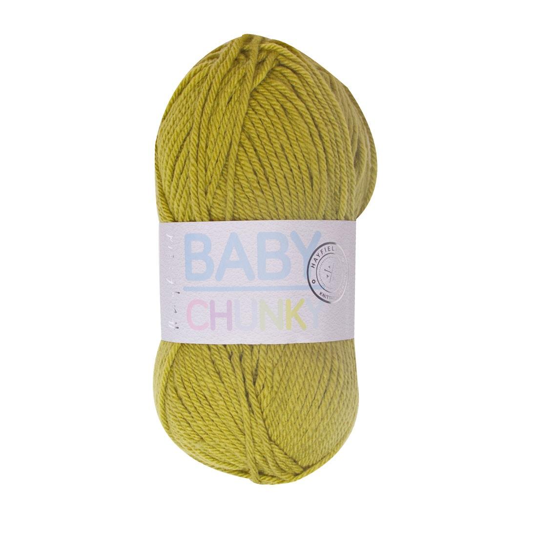acbc5e642ce865 Hayfield Baby Chunky Wool - Applebob Green Yarn 405 - Quilt Yarn ...