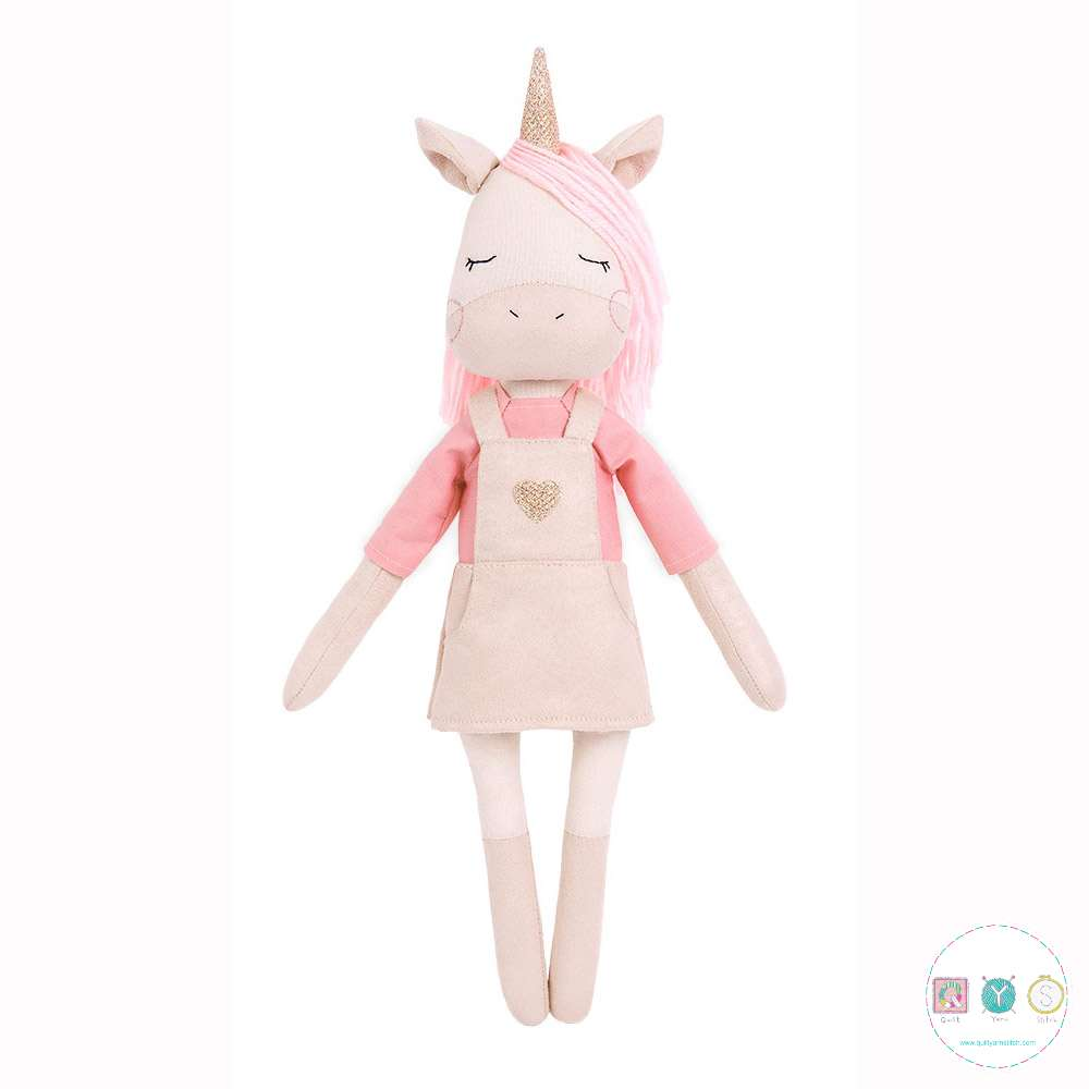 Gift Idea - Ashley The Unicorn Sewing Kit - D.I.Y Kit from MiaDolla - Make Your Own Toy