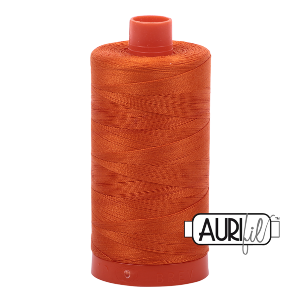 Aurifil Orange Thread 2235 - 12/2 -12wt - Variegated Quilting Cotton Thread