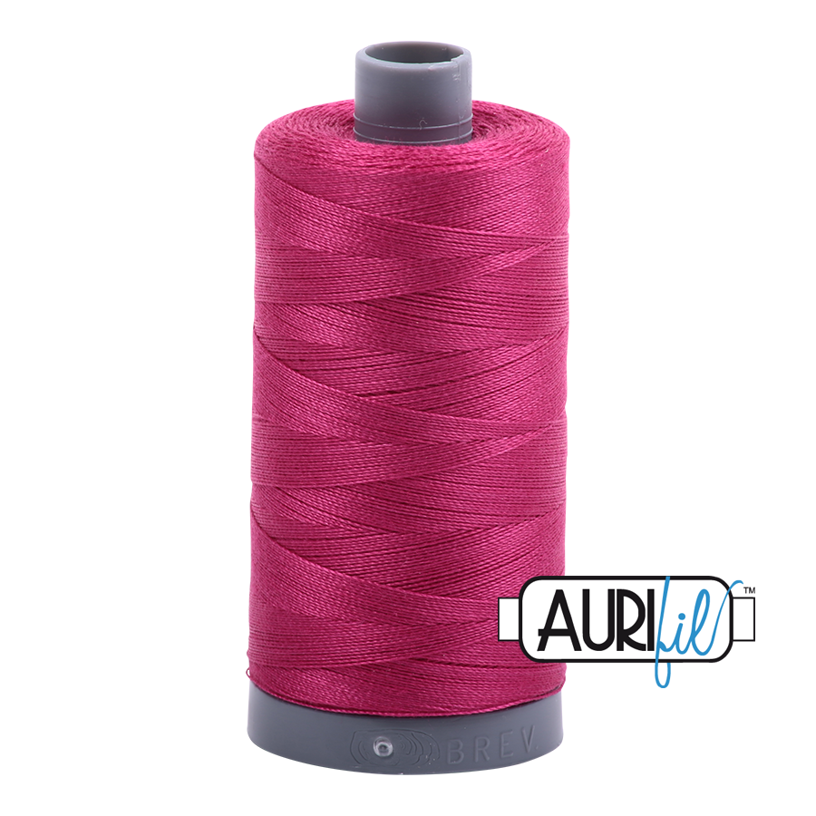 Aurifil Red Plum (Cerise) Thread 1100 - Red Plum -12wt - Quilting Cotton Thread