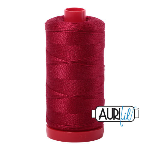 Aurifil Wine Red Thread 2260 - 12wt - Quilting Cotton Thread