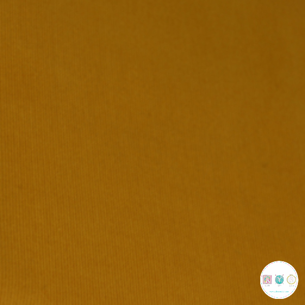 Ochre Yellow - 21w Babycord - 145gr/m2 - 100% Cotton Fabric - Dressmaking Textiles
