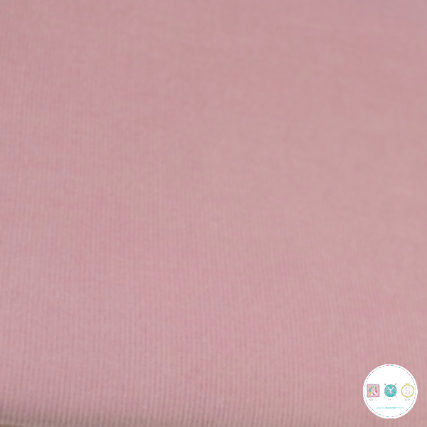 Pale Pink - 21w Babycord - 145gr/m2 - 100% Cotton Fabric - Dressmaking Textiles