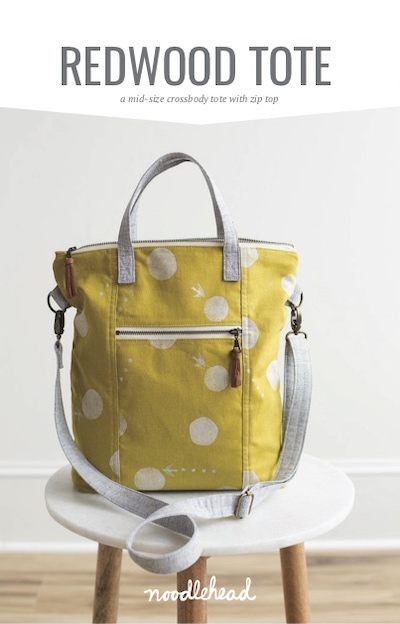 Bag Sewing Pattern - The Redwood Tote by Noodlehead