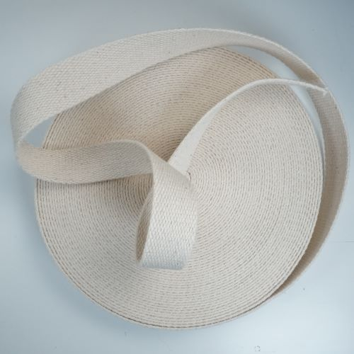 Bag Strapping - Webbing - Ecru - Cotton