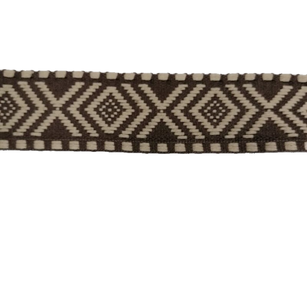 Bag Strapping- Aztec Braid - Taupe