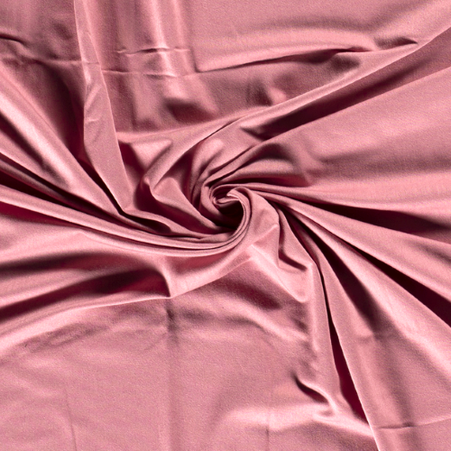 Bamboo Jersey Fabric in Blush Pink