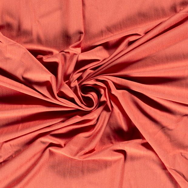 Bamboo Jersey Fabric in Dusty Coral