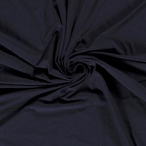 Bamboo Jersey Fabric in Dark Navy