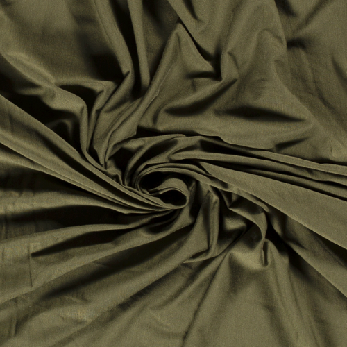 Bamboo Jersey Fabric in Khaki Green