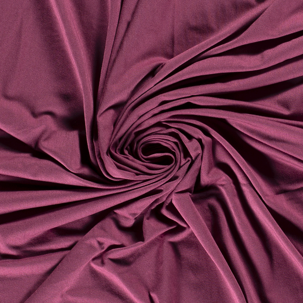 Bamboo Jersey Fabric in Dark Mauve