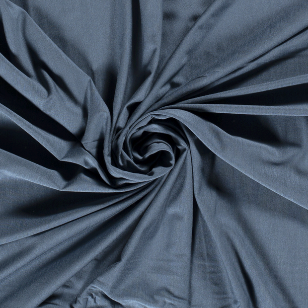 Bamboo Jersey Fabric Steel in Blue Grey