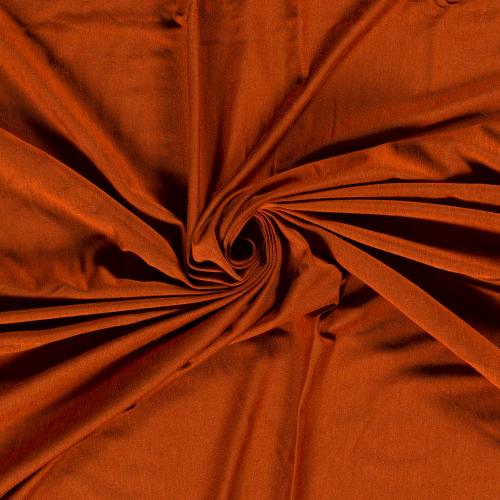 Bamboo Jersey Fabric in Terracotta