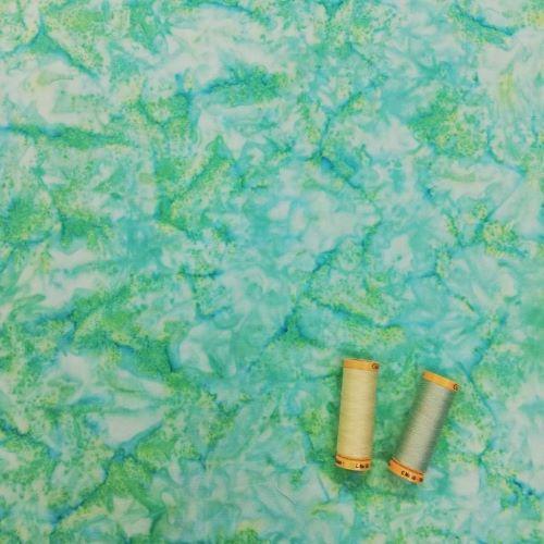 Quilting Fabric - Batik Aqua Marine Sea Green