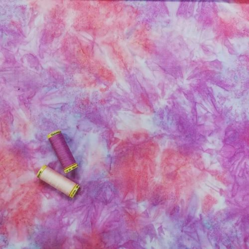 Quilting Fabric - Batik Pink and Purple