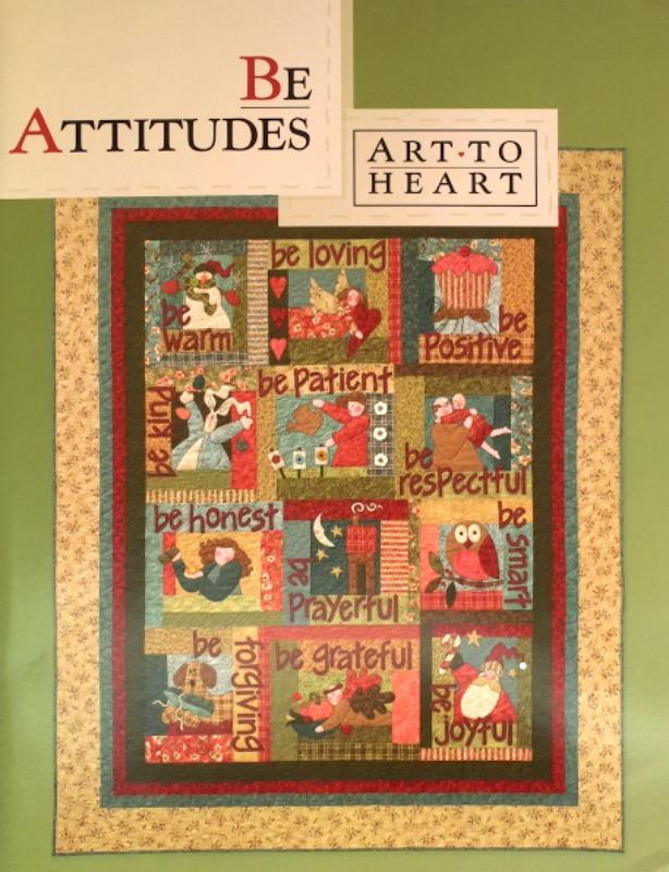 Be Attitudes Applique Book - Art to Heart - Applique Pattern Book by Nancy Halvorsen