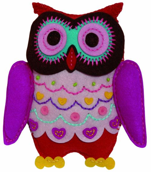 Gift Idea - Beginners Sewing Kit by Kleiber Felt Owl Kit 931-67