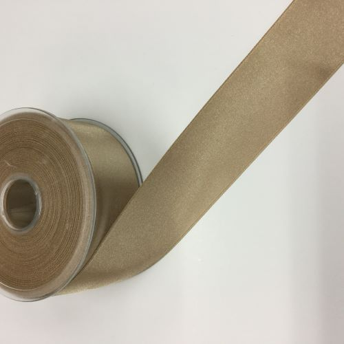 Beige Satin Ribbon 38mm