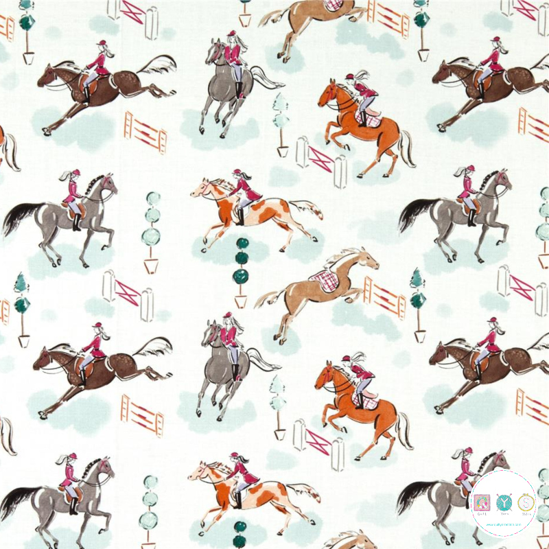 Jumping Horses - Best In Show - Cotton Fabric - by Camelot Studios - Patchwork & Quilting