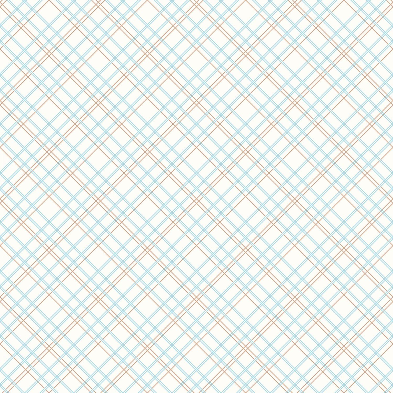Aqua Plaid - Blue Check 108