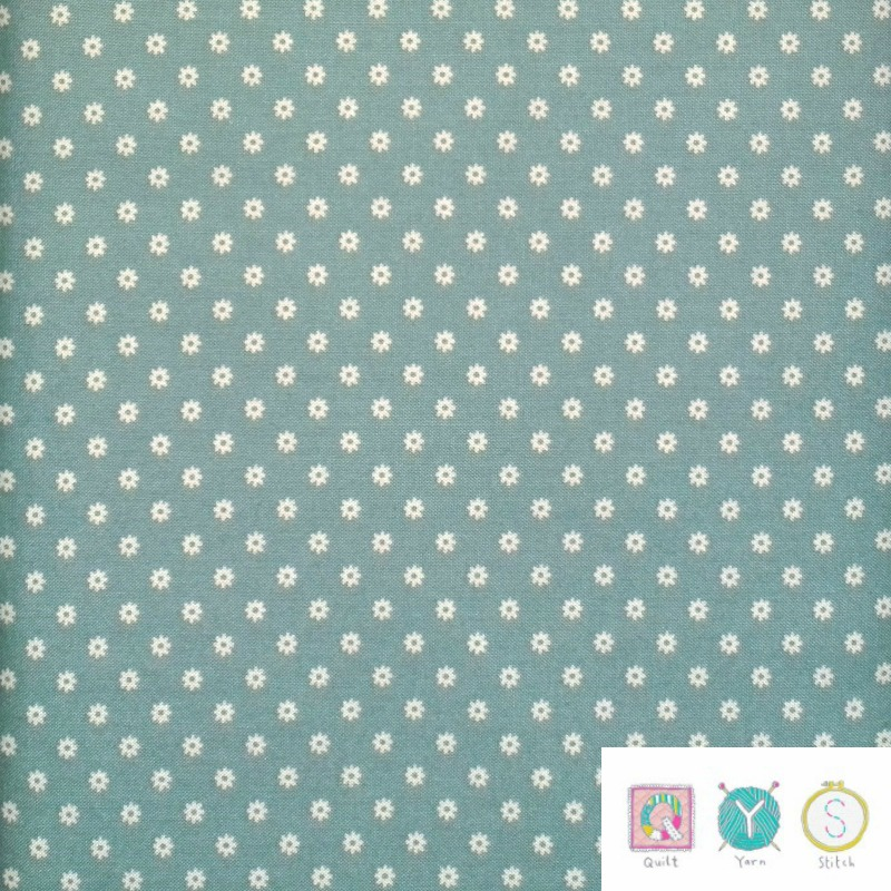 Duckegg Blue Daisy - Hop, Skip and a Jump by American Jane for Moda Fabric