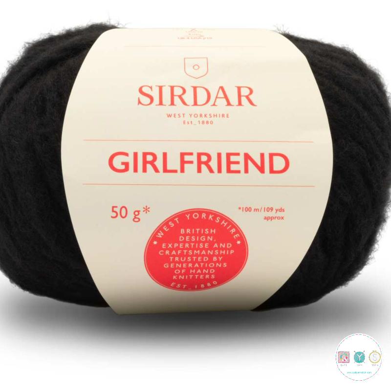 Sirdar Girlfriend 250 BlacK  - Chunky Wool - Felted Yarn - Knitting & Crochet