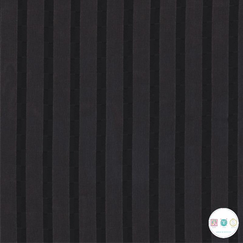 Black Satin Stripe Chiffon - Polyester - 150cm - Dress Fabric - Dressmaking