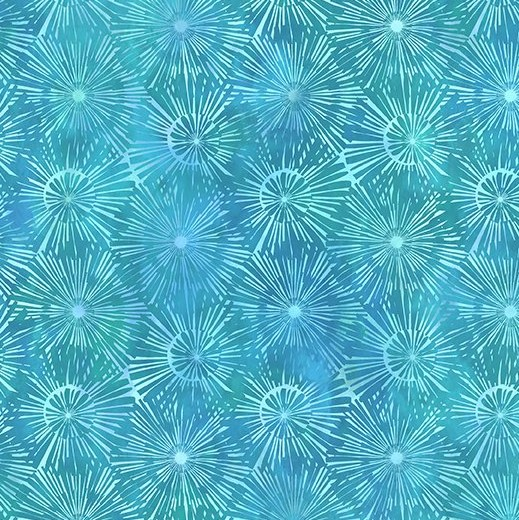 Dandelion on Blue - Urban Jungle by In The Beginning Fabrics