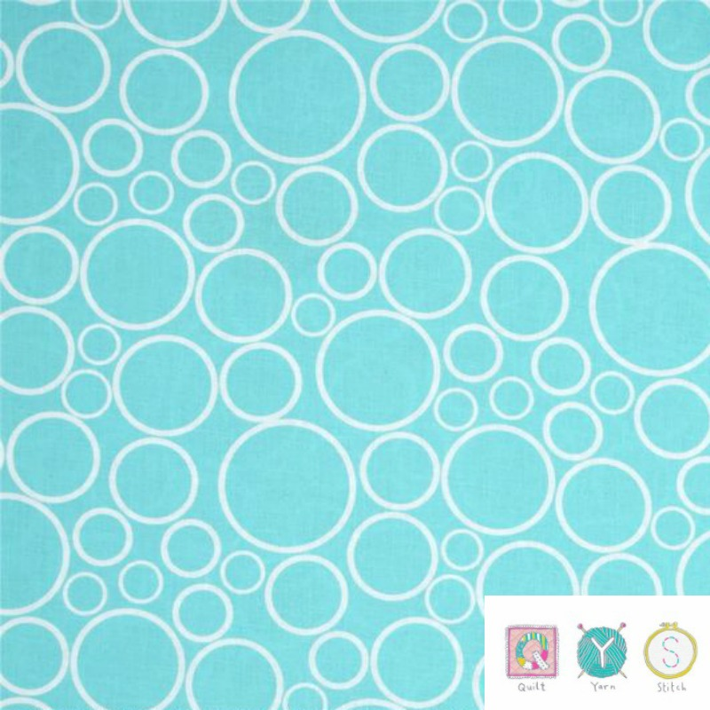 Blue Contemporary Spot On Circles Material - 108