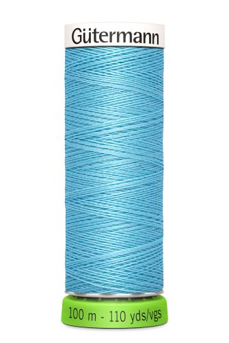 Gutermann Sew All Thread - Blue Recycled Polyester rPET Colour 196
