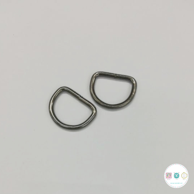 25mm Antique Black D-Ring - 2 Pack - Bag Making Equipment