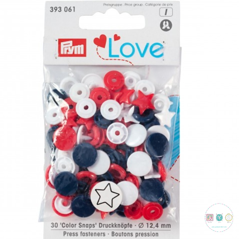Prym Love - No-Sew Snap Fasteners - Easy Plastic Snap Buttons - 393061 - for use with Prym Vario Pliers