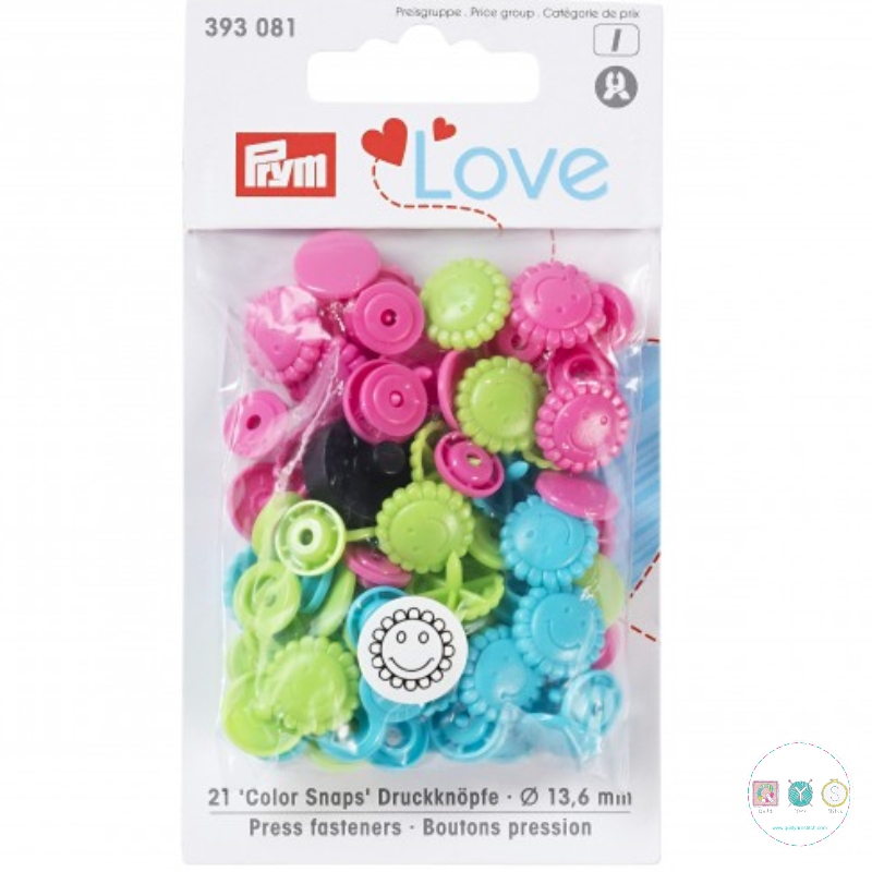 Prym Love - No-Sew Snap Fasteners - Easy Plastic Snap Buttons - 393081 - for use with Prym Vario Pliers