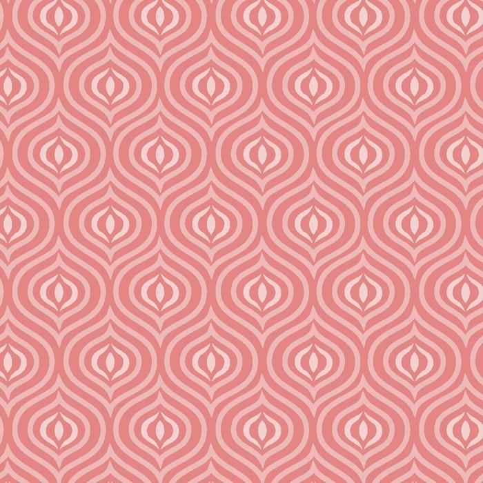 David Textiles - Bombay Tile Melon - Cotton - Patchwork & Quilting Fabric