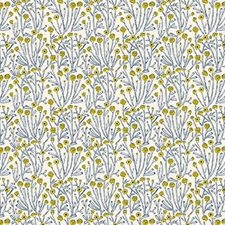 Quilting Fabric - Blue Branches from Prickly Pear by Figo Fabrics