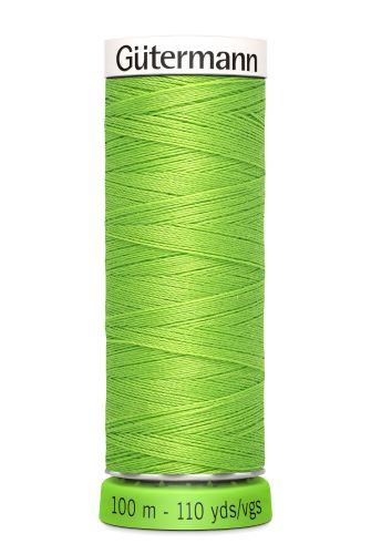 Gutermann Sew All Thread - Bright Green Recycled Polyester rPET Colour 336