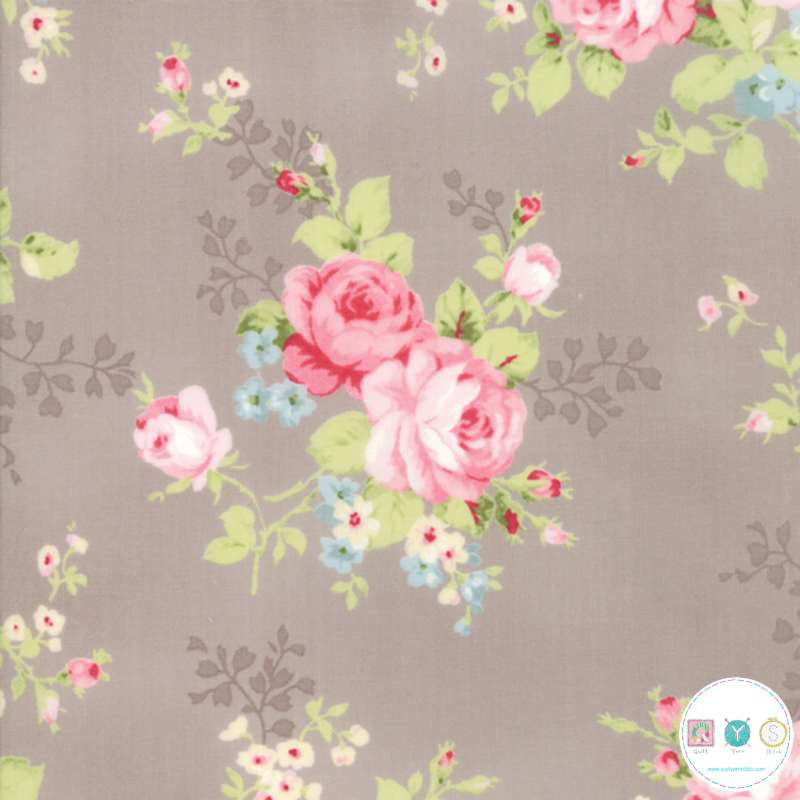Brown Floral - Amberley - by Brenda Riddle for Moda Fabrics - Patchwork & Quilting