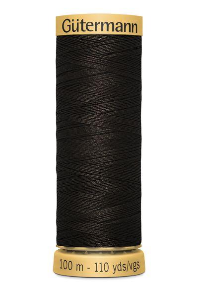 Gutermann Sew All Thread - Dark Brown 100% Cotton Colour 1712