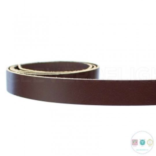 Brown PU Leather Bag Strapping - 3/4 Inch - Bag Hardware - Haberdashery