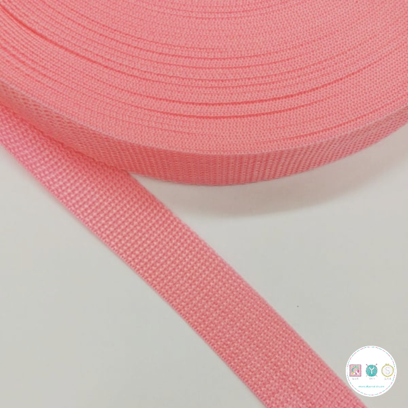 25mm Pink Polypropylene Webbing - Bag Strapping - Haberdashery