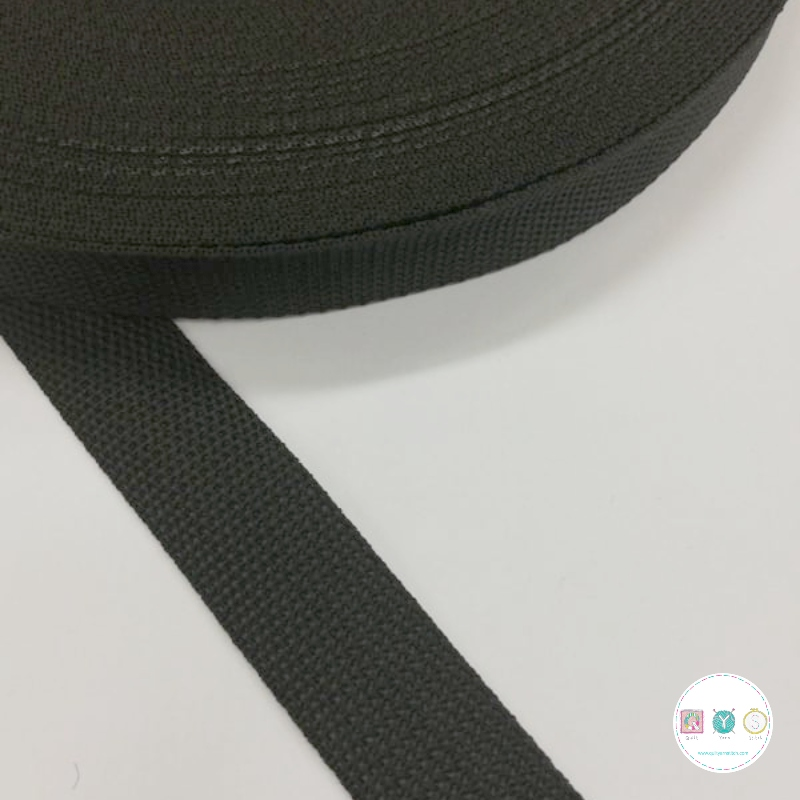 25mm Black - Polypropylene Webbing - Bag Strapping - Haberdashery