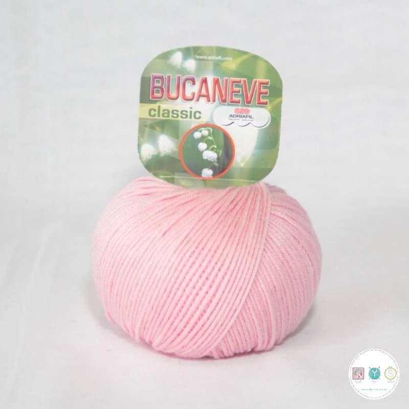 Adriafil Italian Yarn - Bucaneve 03 - Worsted - Mid Pink - 50g - Extra Fine Merino - 100% Wool