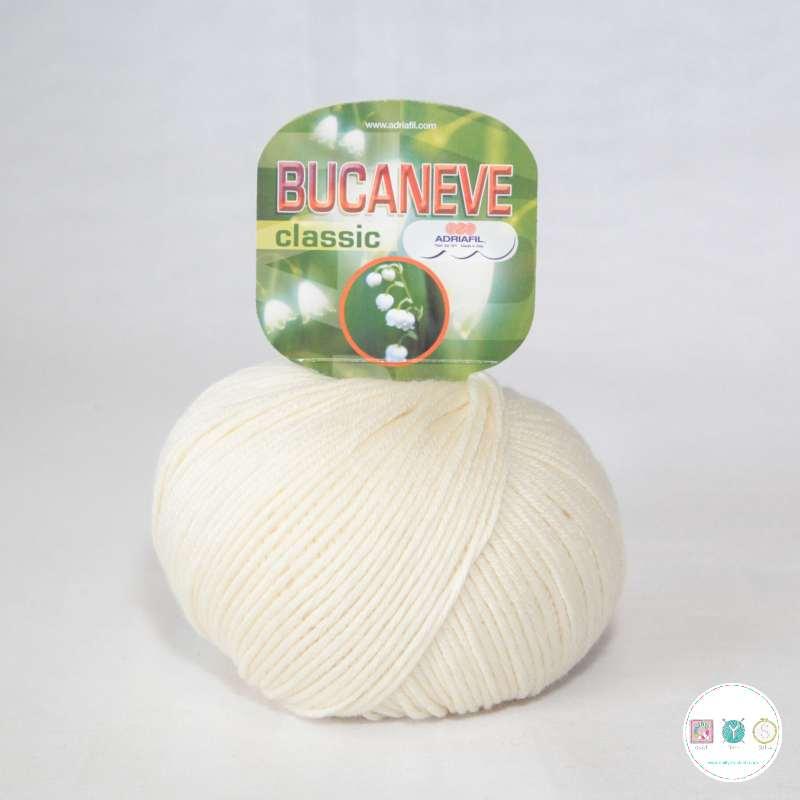 Adriafil Italian Yarn - Bucaneve 1 - Worsted - Off-White - 50g - Extra Fine Merino - 100% Wool