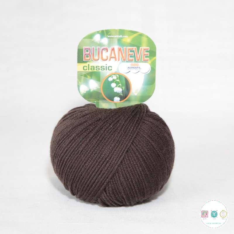 Adriafil Italian Yarn - Bucaneve 15 - Worsted - Chocolate Brown - 50g - Extra Fine Merino - 100% Wool