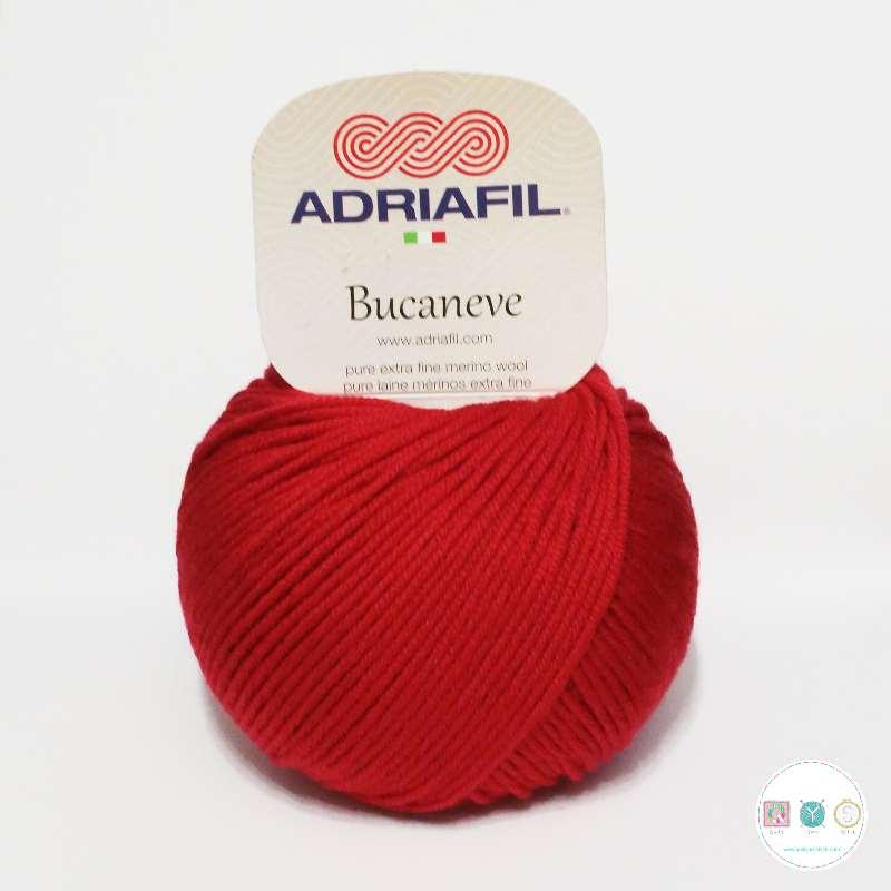 Adriafil Italian Yarn - Bucaneve 27 - Worsted - Red - 50g - Extra Fine Merino - 100% Wool