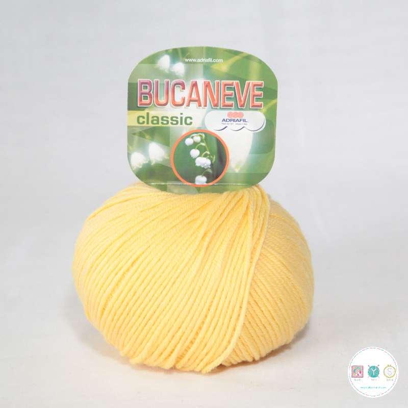 Adriafil Italian Yarn - Bucaneve 54 - Worsted - Daffodil Yellow - 50g - Extra Fine Merino - 100% Wool